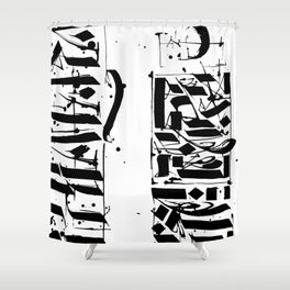 CALLIGRAPHY N°4 ZV Shower Curtain