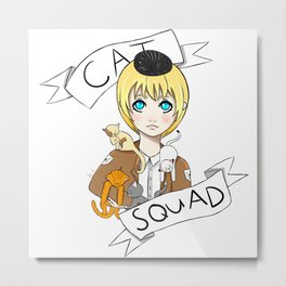 Cat Squad (Armin) Metal Print