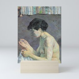 Study of a Nude (Suzanne Sewing) Mini Art Print