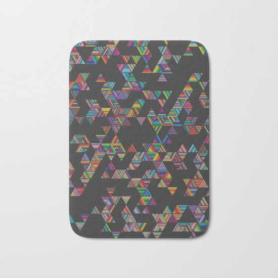 Rainbow Night Rain Bath Mat