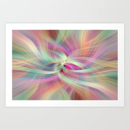 Rainbow Colored Abstract. Concept Divine Virtues Art Print