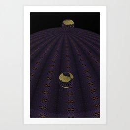 Unfitting Frame Orbitals 8 Art Print