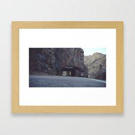 Hole In The Mountainside Framed Art Print