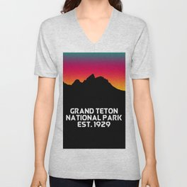 Grand Teton National Park Unisex V-Neck