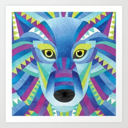 Shanti Sparrow: Nova the wolf Art Print