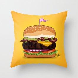 Bacon Cheeseburger Throw Pillow