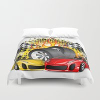 cars Duvet Covers featuring Cars by ismailburc