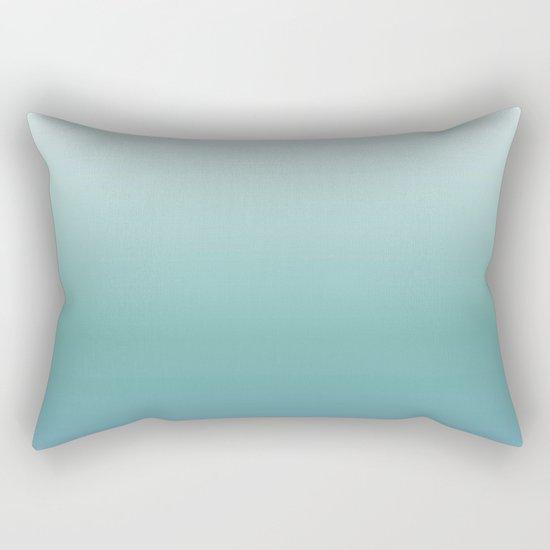Teal Gradient Rectangular Pillow