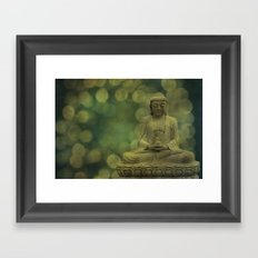 Buddha light gold Framed Art Print