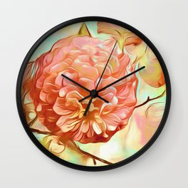 Floral Delight Wall Clock