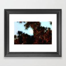 Daylight moon Shine Framed Art Print