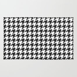 Black and white houndstooth pattern Rug