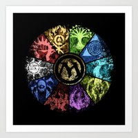 magic the gathering Art Prints featuring Magic the Gathering - Faded Guild Wheel by omgitsmagic