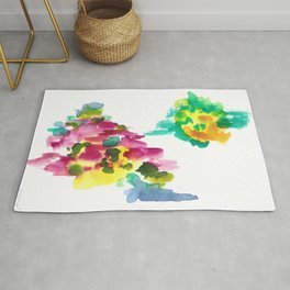 180802 Beautiful Rejection 15 | Colorful Abstract Rug