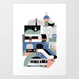 Vienna Subway Art Print