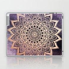 GOLD NIGHTS MANDALA IN PURPLE Laptop & iPad Skin