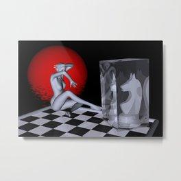 chess lady -2- Metal Print