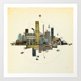Collage City Mix 8 Art Print