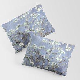 Vincent Van Gogh Almond Blossoms : Steel Blue & Gray Pillow Sham