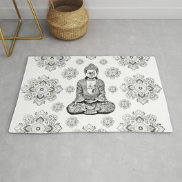 Buddha, HOME DECOR,with hand-painted Mandala Clouds,iPhone case,iPhone cover,iPhone skin,Laptop skin Rug