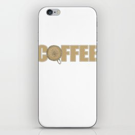 Accountant Powered By Coffee iPhone Skin