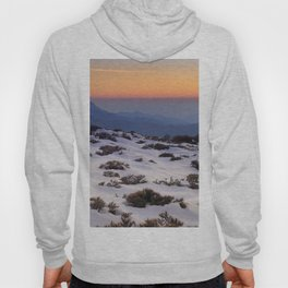 Orange sunset at the mountains. Sierra Nevada Hoody
