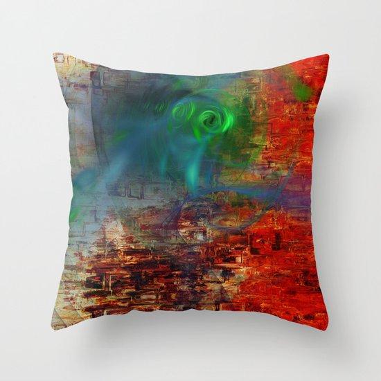 Aqua 56 Throw Pillow