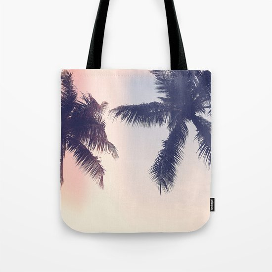 Palm trees Pastel Tote Bag
