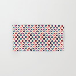 Retro Lips Pattern Hand & Bath Towel
