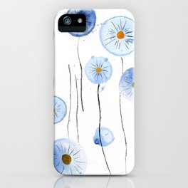 blue abstract dandelion 2 iPhone Case