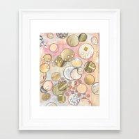 fancy Framed Art Prints featuring fanCy by Mojca G. Vesel