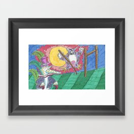 "James Joyce & The ""Hey Diddle Diddle"" Cow Framed Art Print"