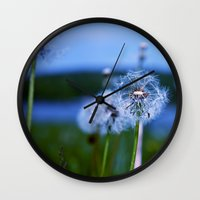 weed Wall Clocks featuring Weed by Libby Rose