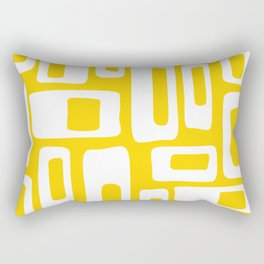 Retro Mid Century Modern Abstract Pattern 335 Yellow Rectangular Pillow