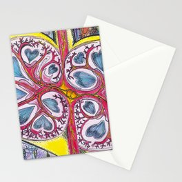 kidney heart Stationery Cards