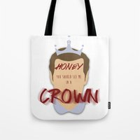 moriarty Tote Bags featuring Moriarty by Cécile Pellerin