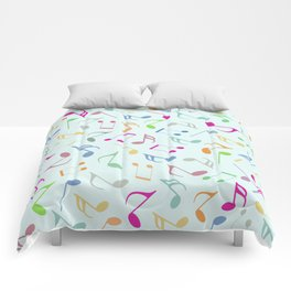 Music Colorful Notes Comforters