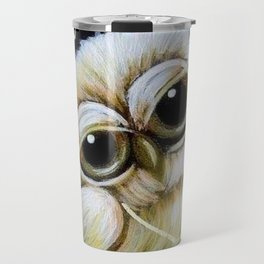 BLONDIE TINY OWL WITH PEACE PENDANT Travel Mug