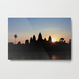 Sunrise at Angkor Wat Metal Print