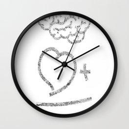The infallible formula ( light on dark version) Wall Clock