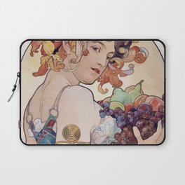 "Alfons Mucha,"" Fruit "" Laptop Sleeve"