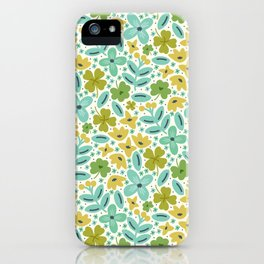 Clover & Floral Field iPhone Case