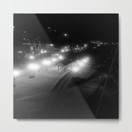 Nashville Night - Train Station  Metal Print