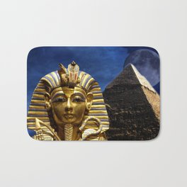 King Tut and Pyramid Bath Mat