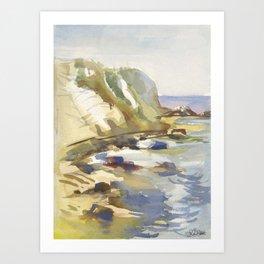 Rocky Waters Art Print