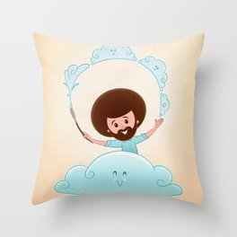 Happy Clouds Throw Pillow
