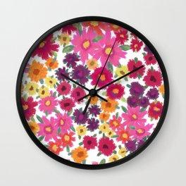 Impressionist Floral Wall Clock