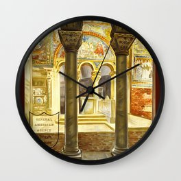 Vintage Ravenna Italy Travel Wall Clock