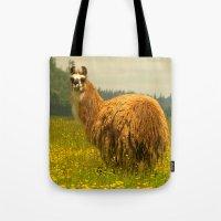 llama Tote Bags featuring Llama by Nature In Art...