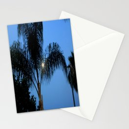 Moonlight through the Palms, Southern California Stationery Cards